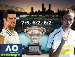 Теннис. Одолев в финале Даниила Медведева, Джокович выиграл чемпионат Австралии 2021 года