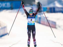 Биатлон. ЧМ-2021. Масс-старты в Поклюке выиграли австрийка Хаузер и норвежец Легрейд