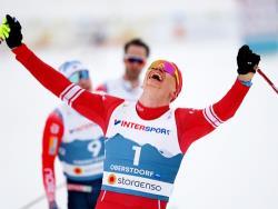 Лыжи. ЧМ-2021. Россиянин Александр Большунов выиграл мужской скиатлон в Оберстдорфе