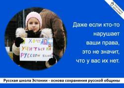 РШЭ: Программа развития эстонского языка - это план ликвидации русских школ страны
