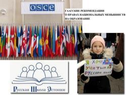 Гаагские рекомендации ОБСЕ: за четверть века для Эстонии они стали даже более актуальными