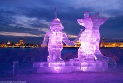 В Санкт-Петербурге открылась выставка ледяных скульптур