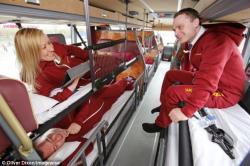 Лондон с городами Шотландии свяжут комфортные спальные ночные автобусы