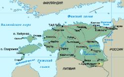 Русская география Эстонии