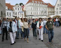 Число туристов, посетивших Таллин за год, увеличилось на 2%, а россиян - на 12%