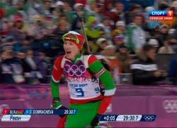 Сочи-2014. Биатлон. Белоруска Дарья Домрачева выиграла гонку преследования