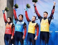 Сочи-2014. Санный спорт. Абсолютный триумф Германии и `серебро` России в эстафете