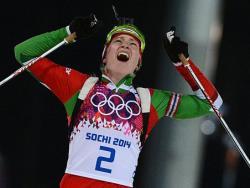 Сочи-2014. Биатлон. Дарья Домрачева стала трёхкратной олимпийской чемпионкой