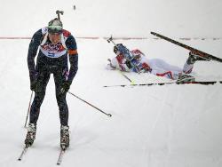 Сочи-2014. Биатлон. Свендсен, выиграв масс-старт, стал трёхкратным олимпийским чемпионом
