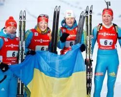 Сочи-2014. Биатлон. Женскую эстафету выиграла Украина, Россия - вторая, Норвегия - третья