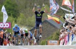 Велоспорт. Алехандро Вальверде во второй раз в карьере выиграл гонку `Флеш Валлонь`
