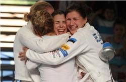 Фехтование. Женская сборная Эстонии по шпаге выиграла `серебро` чемпионата мира
