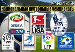 Футбол. Сезон 2014/15. Национальные чемпионаты.