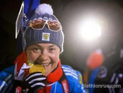 Биатлон. ЧМ-2015. Россиянка Екатерина Юрлова стала чемпионкой мира в индивидуальной гонке