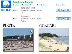 Таллинские пляжи Пирита и Пикакари получили право на поднятие `Голубого флага`