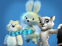 Олимпийские Мишка, Зайка и Леопард украсят российский рубль