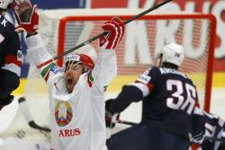 Хоккей. ЧМ-2015. Белорусы выиграли со счётом 5:2 у США и вышли в лидеры группы В
