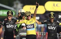 Велоспорт. Крис Фрум стал первым британцем, дважды выигравшим `Тур де Франс`
